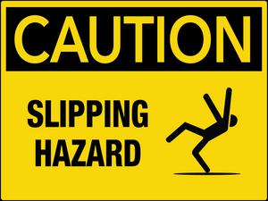 Caution Slipping Hazard Wall Sign