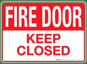 Fire Door Wall Sign