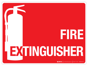Fire Extinguisher - Wall Sign