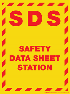 SDS Safety Data Sheet Station - Wall Sign