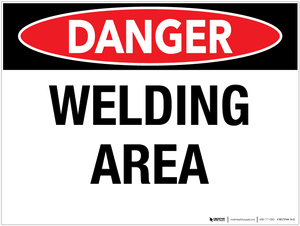 Danger: Welding Area - Wall Sign