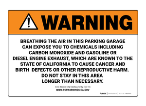 Prop 65 Parking Garage - Wall Sign