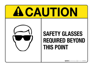Safety Glasses Required - Wall Sign