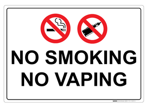 No Smoking / No Vaping II - Wall Sign