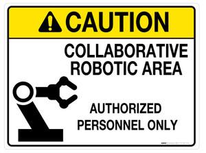 Caution: Collaborative Robotic Area - Wall Sign