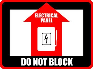 Electrical Panel - Do Not Block  - Floor Sign