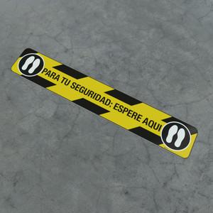 Para Tu Seguridad: Espere Aqui feet - Social Distancing Strip