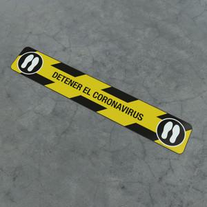 Detener El Coronavirus Feet - Social Distancing Strip