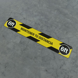 Mantener Tu Distancia 6Ft - Social Distancing Strip