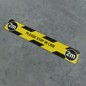 Please Stay In Line 2M - Social Distancing Strip