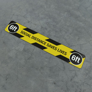 Social Distance Saves Lives 6Ft - Social Distancing Strip