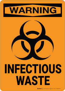 Warning: Biohazard Infectious Waste - Wall Sign