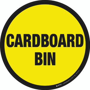 Cardboard Bin Floor Sign