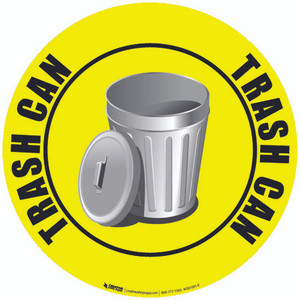 Trash Can Custom Floor Safety Sign