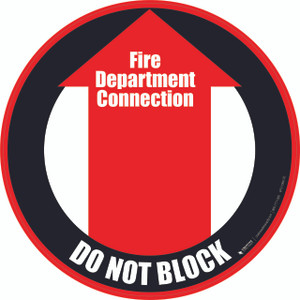 Fire Department Connection (Do Not Block) Floor Sign