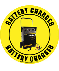 Battery Charger (Real) Floor Sign
