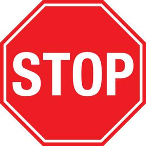 STOP Custom Floor Signs
