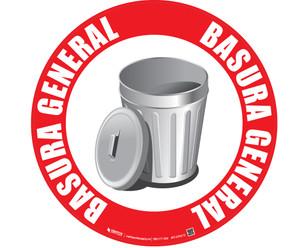 Basura General (General Trash) Floor Sign