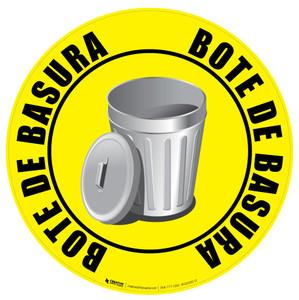 Bote de Basura (Trash Can) Floor Sign