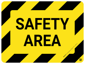 Safety Area Floor Sign