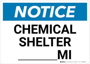 Notice: Chemical Shelter Mile Landscape