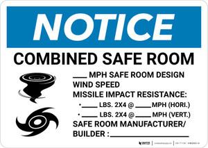 Notice: Hurricane/Tornado Safe Room Design Wind Speed Landscape