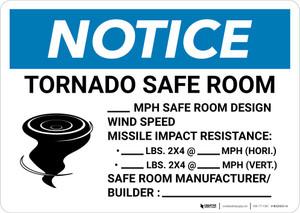 Notice: Tornado Safe Room Design Wind Speed Landscape