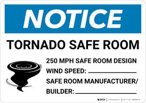 Notice: Tornado Safe Room Landscape