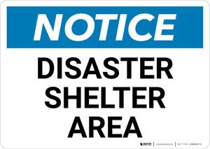 Notice: Disaster Shelter Area Landscape