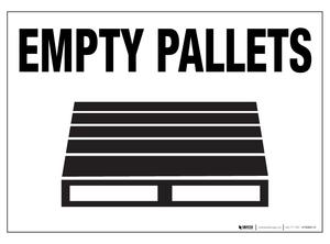 Empty Pallets ' Floor Sign