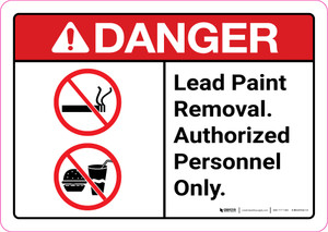 Danger: Lead Paint Removal Authorized Personnel Only ANSI Landscape