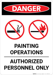 Danger: Painting Operations - Authorized Personnel Only Portrait