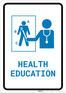 Health Education with Icon Portrait v2 - Wall Sign