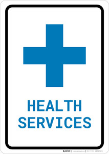 Health Services with Icon Portrait v2 - Wall Sign