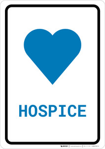 Hospice with Icon Portrait v2 - Wall Sign