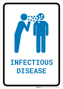 Infectious Disease with Icon Portrait v2 - Wall Sign