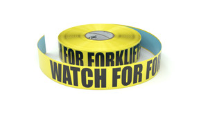 Watch For Forklifts - Inline Printed Floor Marking Tape