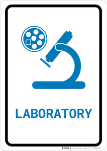 Laboratory with Icon Portrait v2 - Wall Sign