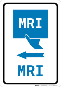MRI Left Arrow with Icon Portrait v2 - Wall Sign