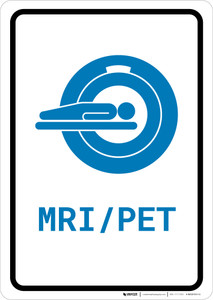 MRI/PET Scan with Icon Portrait v2 - Wall Sign