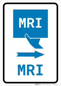 MRI Right Arrow with Icon Portrait v2 - Wall Sign