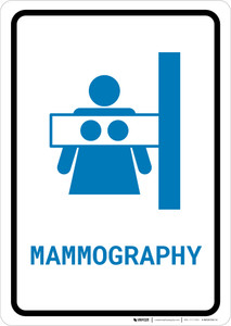 Mammography with Icon Portrait v2 - Wall Sign