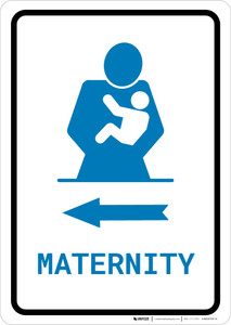 Maternity Left Arrow with Icon Portrait v2 - Wall Sign