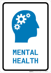 Mental Health with Icon Portrait v2 - Wall Sign