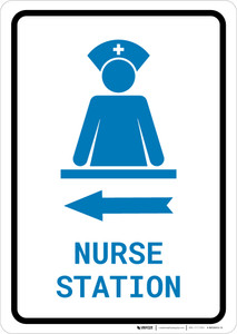 Nurse Station Left Arrow with Icon Portrait v2 - Wall Sign