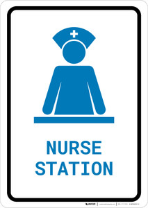 Nurse Station with Icon Portrait v2 - Wall Sign