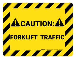 Caution Forklift Traffic Hazard - Floor Marking Sign