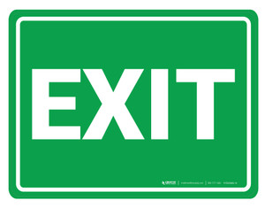 Exit - Floor Marking Sign