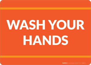 Wash Your Hands Landscape - Wall Sign