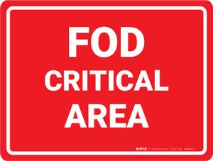 FOD Critical Area - Floor Marking Sign